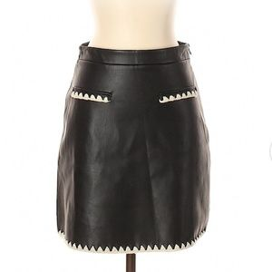 Zara knit Faux leather Skirts.